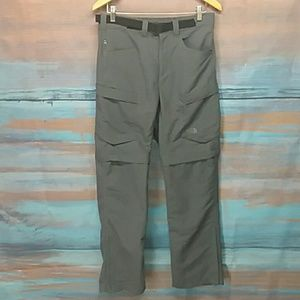North Face Belted Convertible Hiking Pants